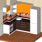 Проект кухни для квартиры ТДСК 1