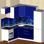 Проект кухни для квартиры ТДСК 2