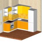 Проект кухни для квартиры ТДСК 3