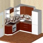 Проект кухни для квартиры ТДСК 4