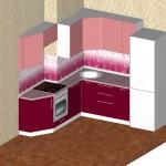 Проект кухни для квартиры ТДСК 5