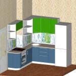Проект кухни для квартиры ТДСК 6