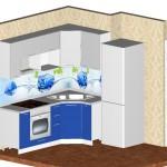Проект кухни для квартиры ТДСК 7