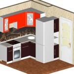 Проект кухни для квартиры ТДСК 8