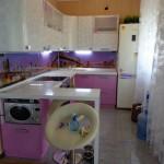Кухня угловая, сиреневая изготовление в Томске на заказ
