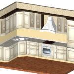 3d-модель угловой кухни, в классическом стиле. Томск