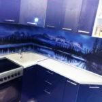 Кухня фиолетовая,угловая на заказ в Томске, цена: 55600