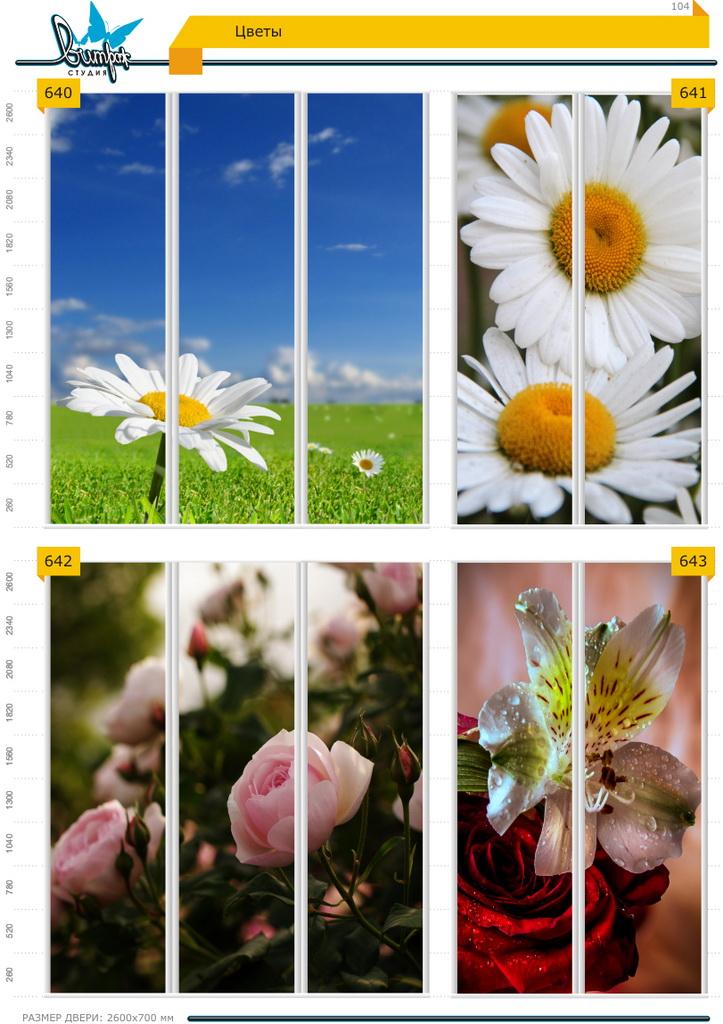 Изображение фотопечати для шкафов-купе, стр.104, цветы