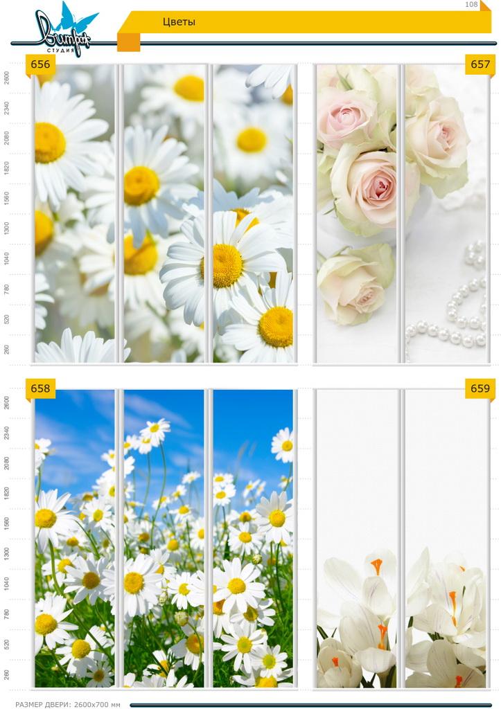 Изображение фотопечати для шкафов-купе, стр.108, цветы
