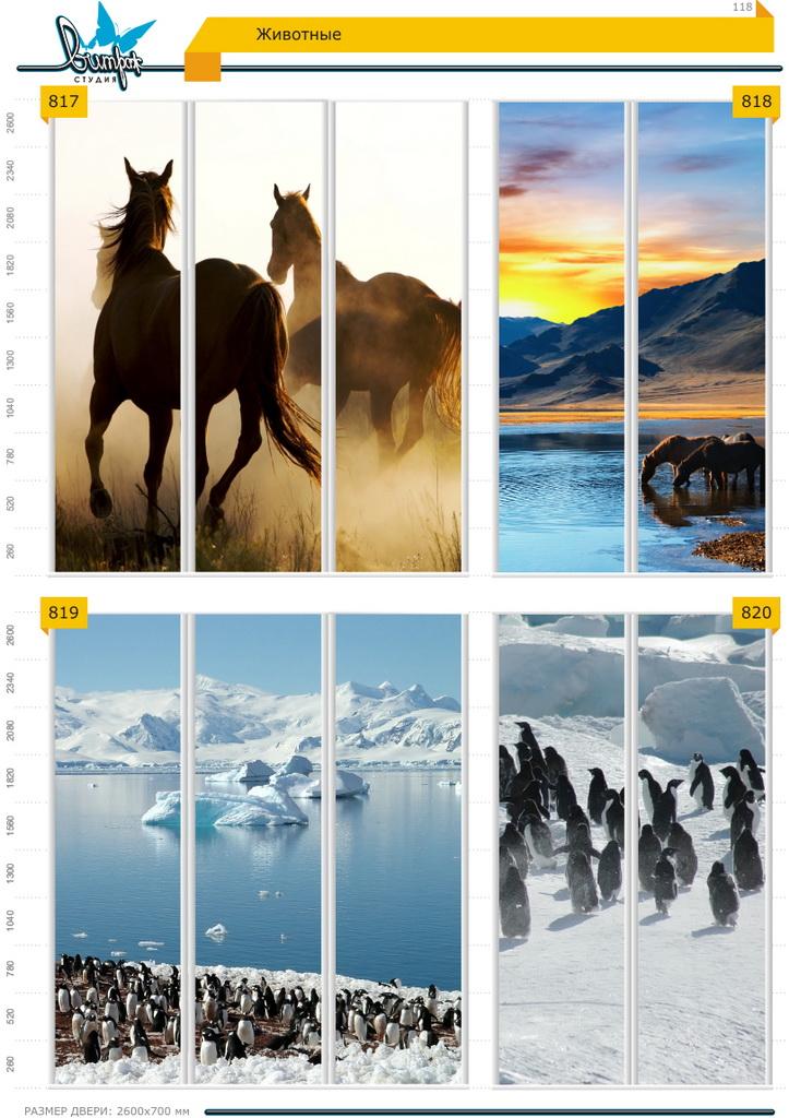 Изображение фотопечати для шкафов-купе, стр.118, животные