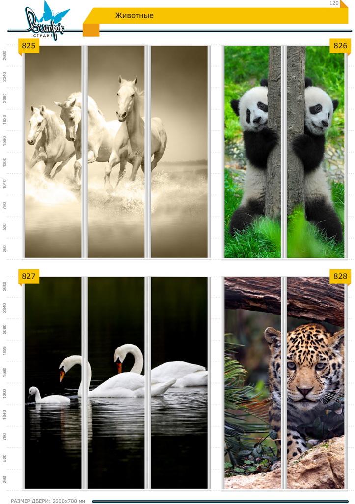 Изображение фотопечати для шкафов-купе, стр.120, животные