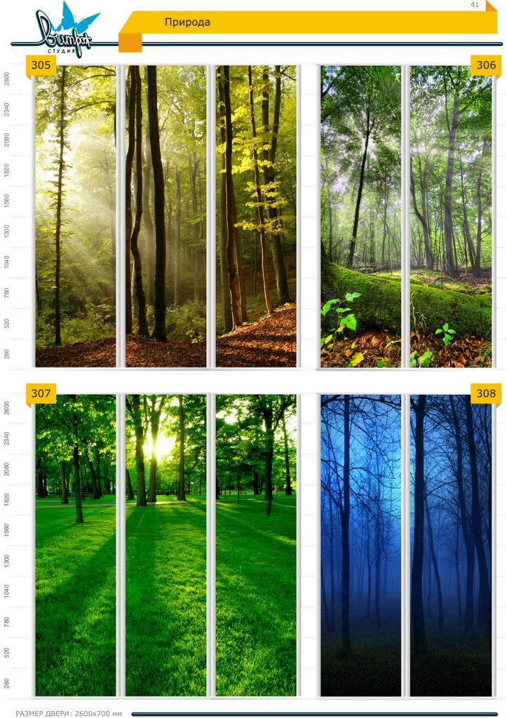 Изображение фотопечати для шкафов-купе, стр.41, природа