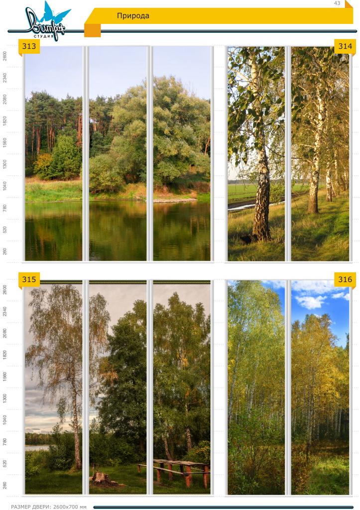 Изображение фотопечати для шкафов-купе, стр.43, природа