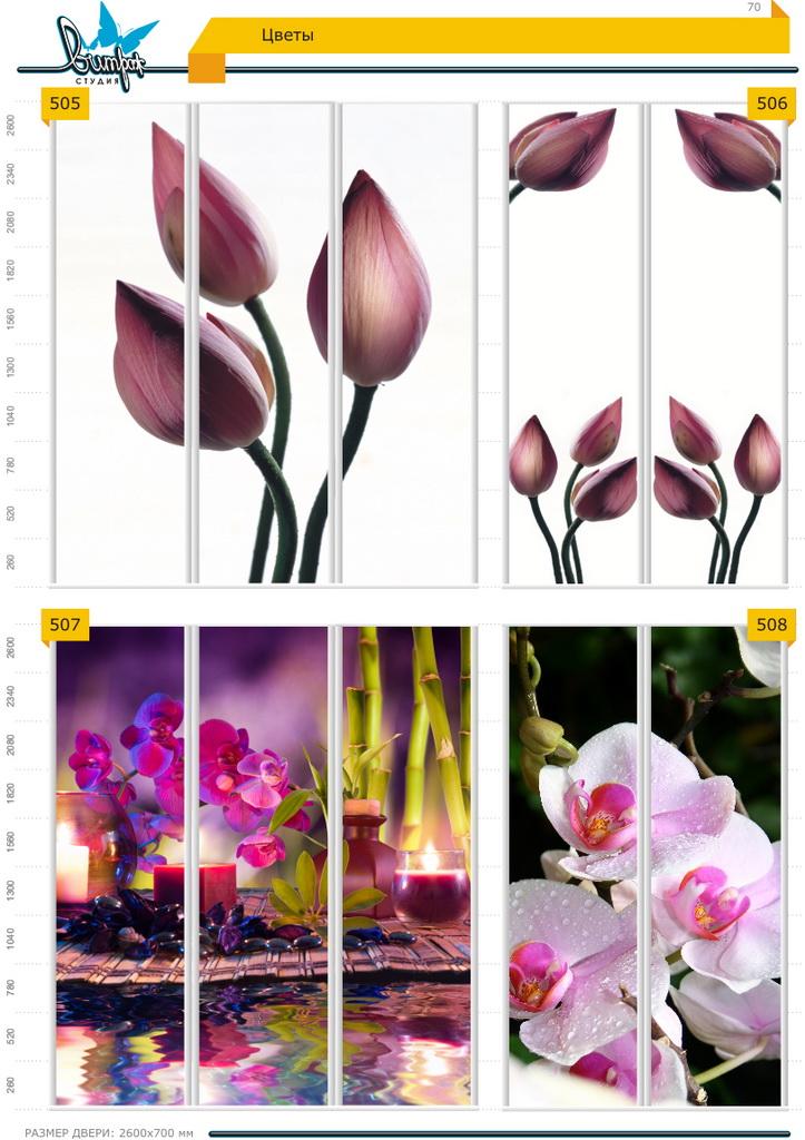 Изображение фотопечати для шкафов-купе, стр.70, цветы