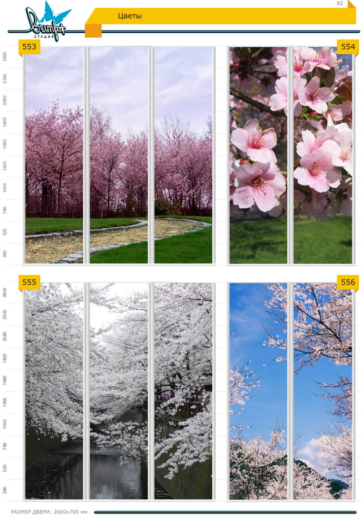 Изображение фотопечати для шкафов-купе, стр.82, цветы