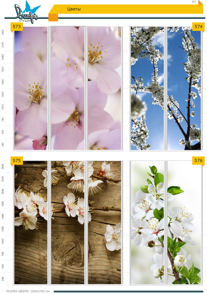 Изображение фотопечати для шкафов-купе, стр.87, цветы