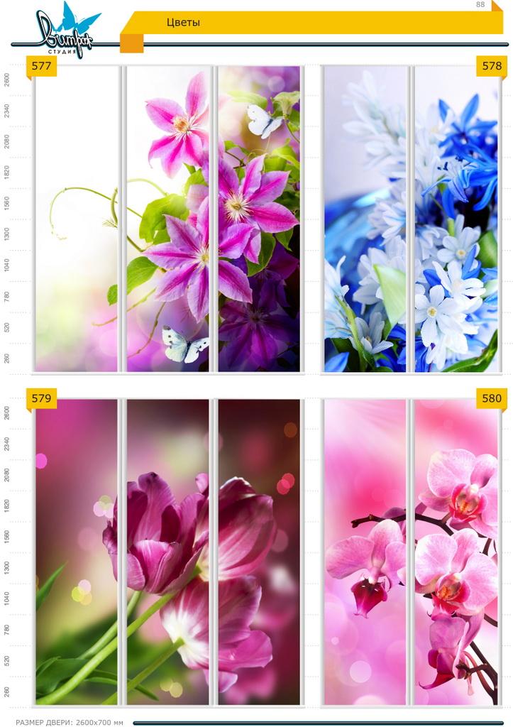 Изображение фотопечати для шкафов-купе, стр.88, цветы