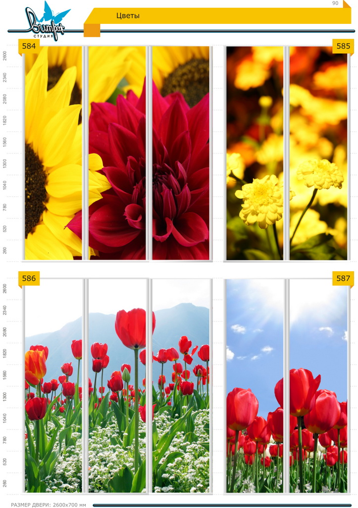 Изображение фотопечати для шкафов-купе, стр.90, цветы