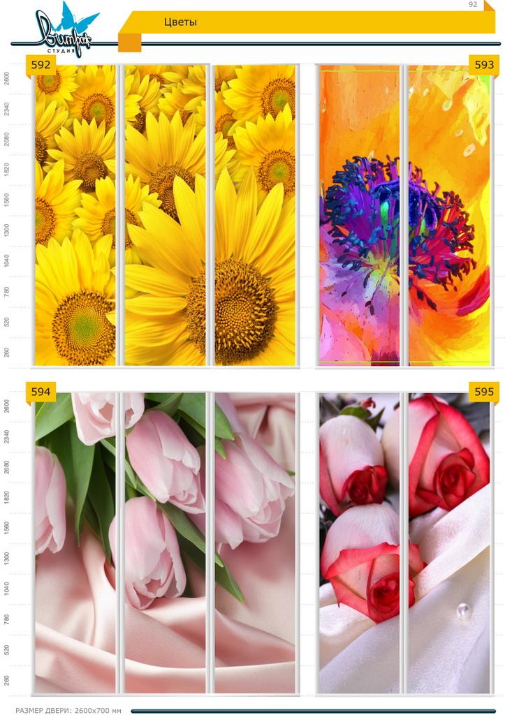 Изображение фотопечати для шкафов-купе, стр.92, цветы