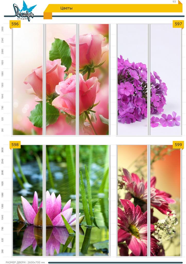 Изображение фотопечати для шкафов-купе, стр.93, цветы