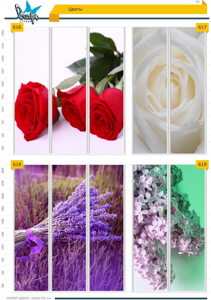 Изображение фотопечати для шкафов-купе, стр.98, цветы