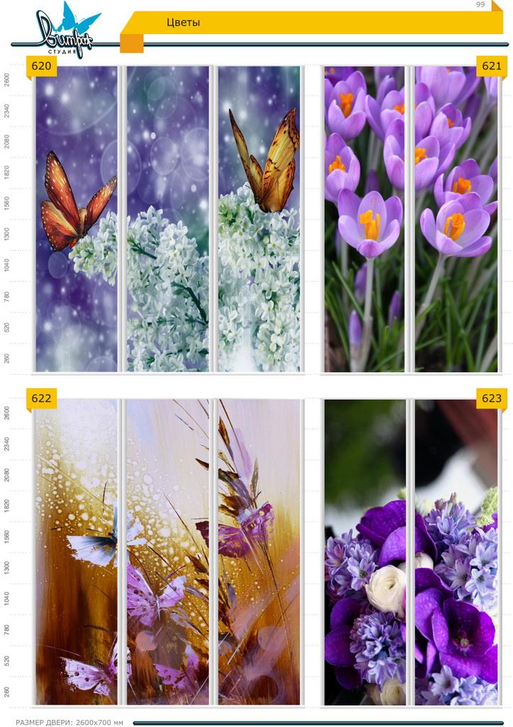 Изображение фотопечати для шкафов-купе, стр.99, цветы
